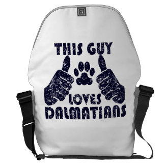 This Guy Loves Dalmatians Messenger Bag