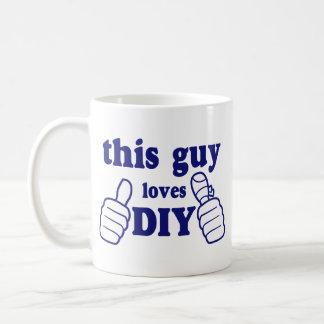 This Guy Loves DIY Classic White Coffee Mug
