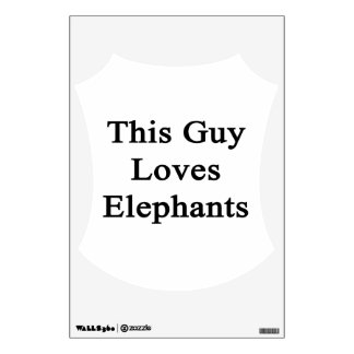This Guy Loves Elephants Wall Skin