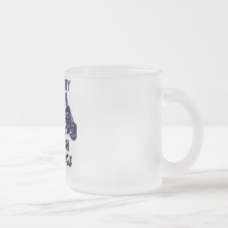 This Guy Loves French Bulldogs 10 Oz Frosted Glass Coffee Mug