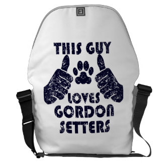 This Guy Loves Gordon Setters Courier Bags