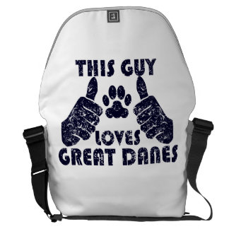 This Guy Loves Great Danes Courier Bags
