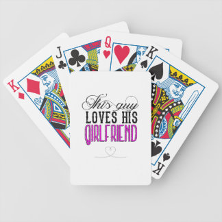 This guy loves his girlfriend bicycle playing cards