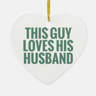 This Guy Loves His Husband Christmas Tree Ornament