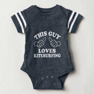 This Guy Loves Kitesurfing Baby Bodysuit