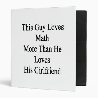 This Guy Loves Math More Than He Loves His Girlfri Binder