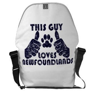 This Guy Loves Newfoundlands Messenger Bags
