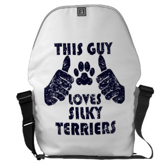 This Guy Loves Silky Terriers Courier Bag