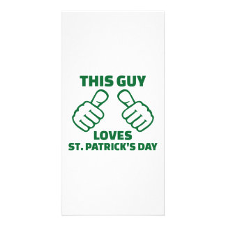 This guy loves St. Patrick's day Card