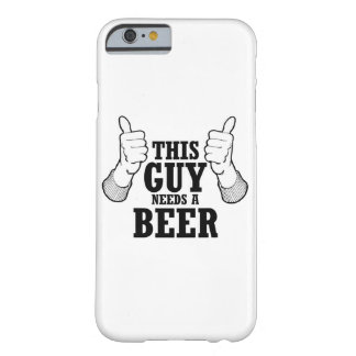 This Guy needs a beer - Holiday Humor Barely There iPhone 6 Case