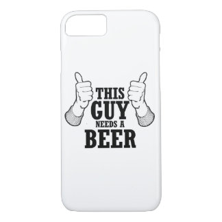 This Guy needs a beer - Holiday Humor iPhone 8/7 Case