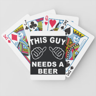 This guy needs a beer logo bicycle playing cards