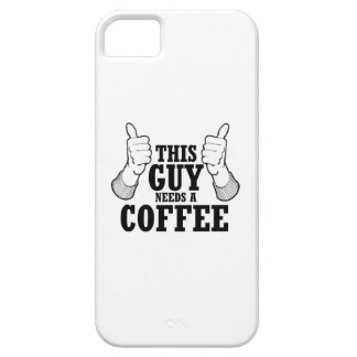 This Guy needs a coffee - Holiday Humor iPhone 5 Cases