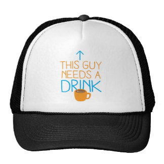This guy needs a drink with coffee mug hats