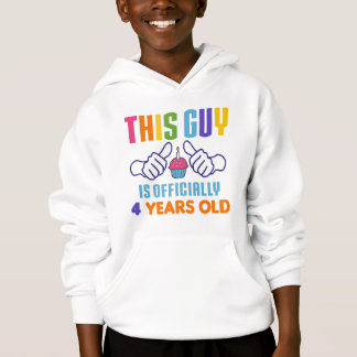 This Guy Officially 4 Years Old Hoodie