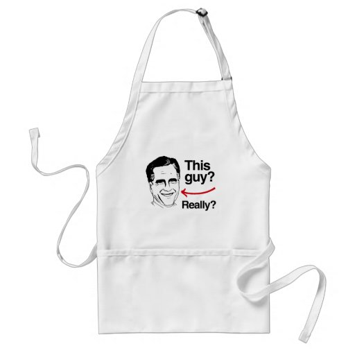 This guy Really Romney.png Adult Apron