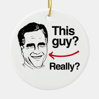 This guy Really Romney.png Double-Sided Ceramic Round Christmas Ornament