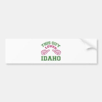 This Guys Loves Idaho. Car Bumper Sticker