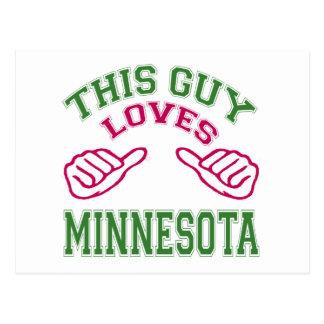 This Guys Loves Minnesota. Postcard