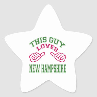 This Guys Loves New Hampshire Star Sticker