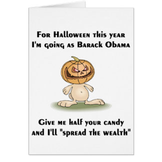 This Halloween I'm going as Barack Obama Card