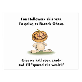 This Halloween I'm going as Barack Obama Postcard