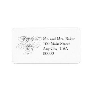 This Happliy Ever After Address Lables Custom Address Label