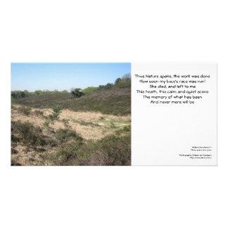 This heath, this calm and quiet scene custom photo card