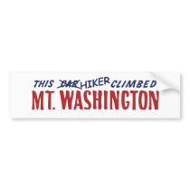 this hiker climbed mt washington bumper sticker