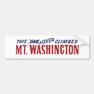 this hiker climbed mt washington bumper sticker car bumper sticker
