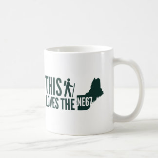 """This Hiker Loves the New England 67"" Coffee Mug"
