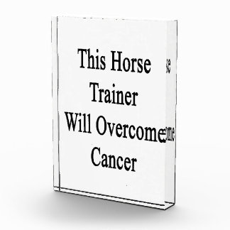 This Horse Trainer Will Overcome Cancer Award