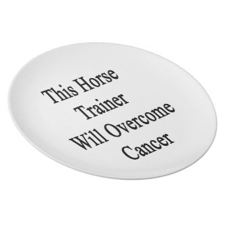 This Horse Trainer Will Overcome Cancer Dinner Plates