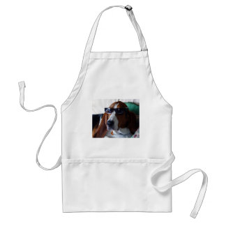 This hound dog is one kool kat adult apron