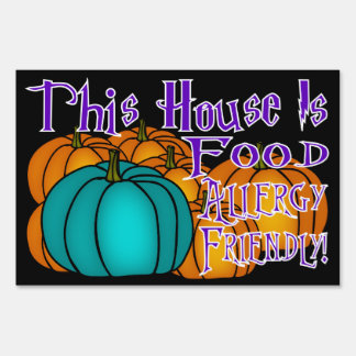 This House Is Food Allergy Friendly-Teal Pumpkin10 Lawn Sign