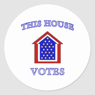 This House Votes Classic Round Sticker