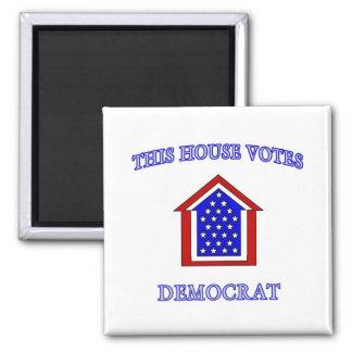 This House Votes Democrat 2 Inch Square Magnet