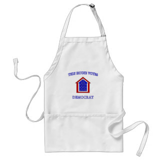This House Votes Democrat Adult Apron