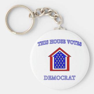 This House Votes Democrat Basic Round Button Keychain