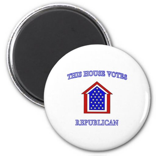 This House Votes Republican 2 Inch Round Magnet