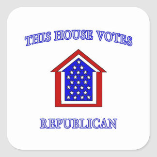 This House Votes Republican Square Sticker