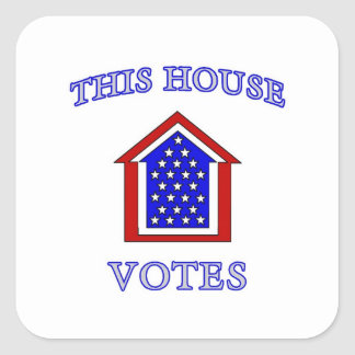 This House Votes Square Sticker