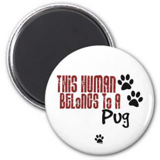 This Human Belongs to a Pug Fridge Magnets