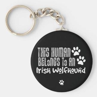 This Human Belongs to an Irish Wolfhound Keychain