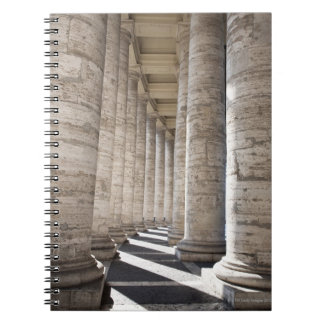 This image was taken inside the portico of Saint 2 Spiral Note Book