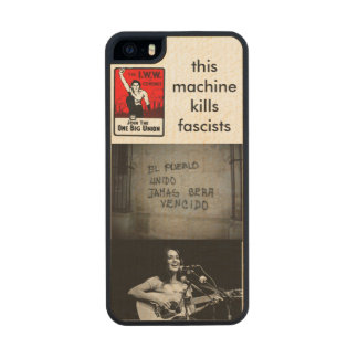 This iPhone Kills Fascists Carved® Maple iPhone 5 Slim Case