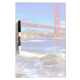 This is a 3 shot HDR image of the Golden Gate Dry-Erase Board