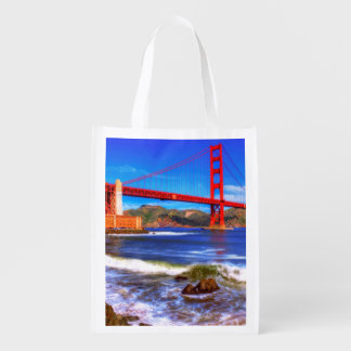 This is a 3 shot HDR image of the Golden Gate Grocery Bag