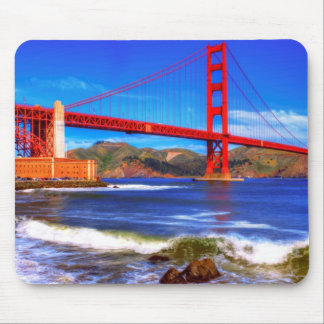 This is a 3 shot HDR image of the Golden Gate Mouse Pad