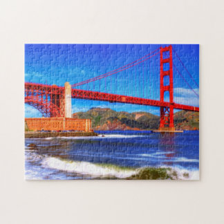 This is a 3 shot HDR image of the Golden Gate Jigsaw Puzzles